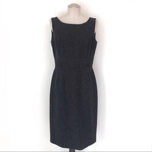 Tahari Pinstripe Black Work Career Dress Size 8